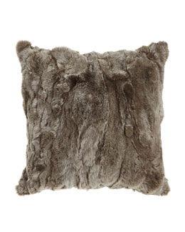 Adrienne Landau Gray Rex Textured Pillow