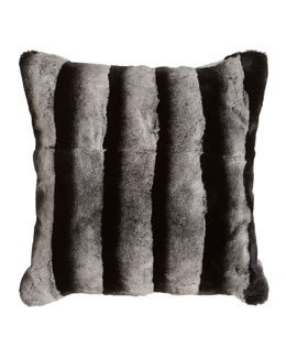 Adrienne Landau Rex Chinchilla-Printed Black-and-White Pillow
