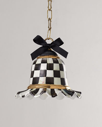 MacKenzie-Childs Small Courtly Check One-Light Pendant