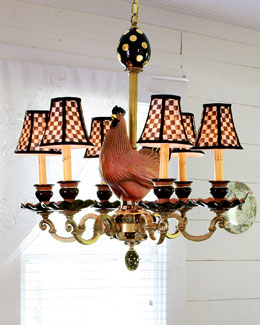MacKenzie-Childs Rooster Chandelier
