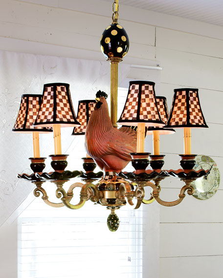 MacKenzie-Childs Rooster 6-Light Chandelier