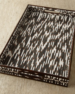 "Janice Minor Export ""Porcupine Quill"" Tray"