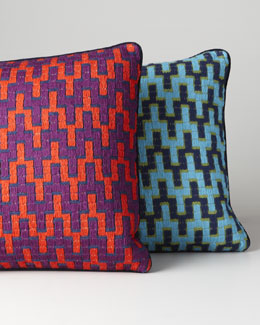 Jonathan Adler Bargello Stepped Chevron Pillow