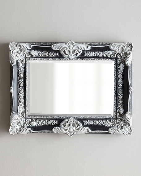 "Antiqued Black ""French"" Mirror"