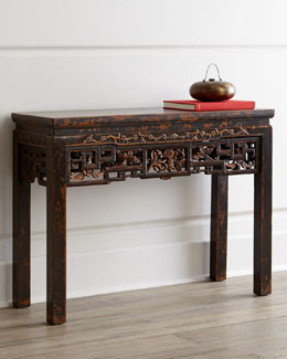 Antique Wood Console