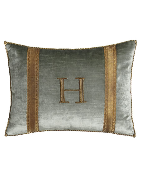 Antique-Trim Monogrammed Pillow