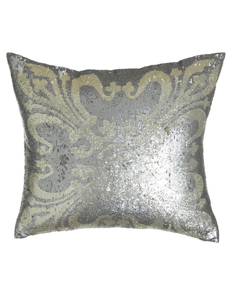 "Sequined Pillow, 22""Sq."