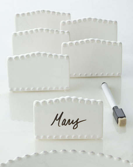Six Bianca Bead Place Cards