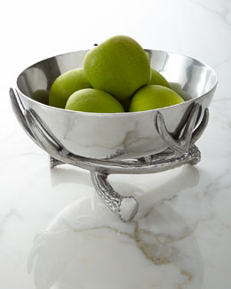 Arthur Court Antler Pedestal Bowl