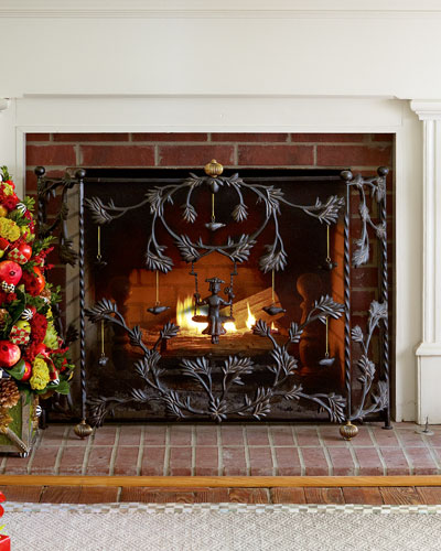 MacKenzie-Childs Mrs. Powers Fireplace Screen