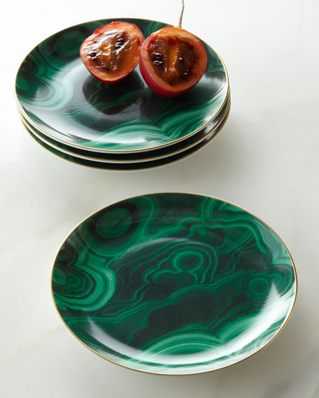 L 39 objet four malachite canape plates for What are canape plates