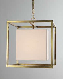 VISUAL COMFORT Cube Caged Lantern Pendant Light