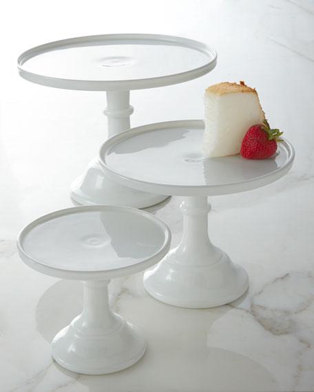 "9"" Milk-Glass Pedestal Server"