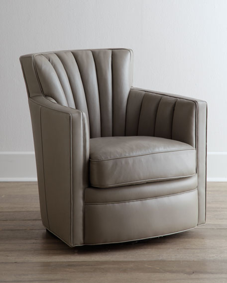 """Shelby"" Swivel Leather Chair"