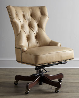 """Solomon"" Leather Office Chair"