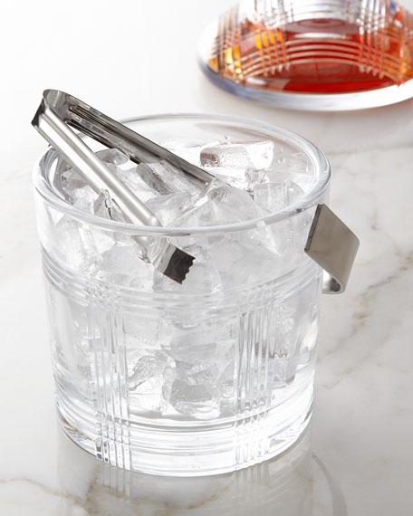 Glen Plaid Ice Bucket with Tongs