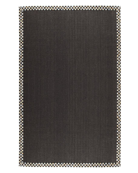 Courtly Check Black Sisal Rug, 3' x 5'