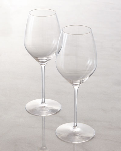 "Rogaska Two White Wine ""Y"" Glasses"