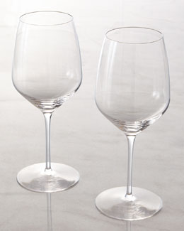 "Two Red Wine ""Y"" Glasses"