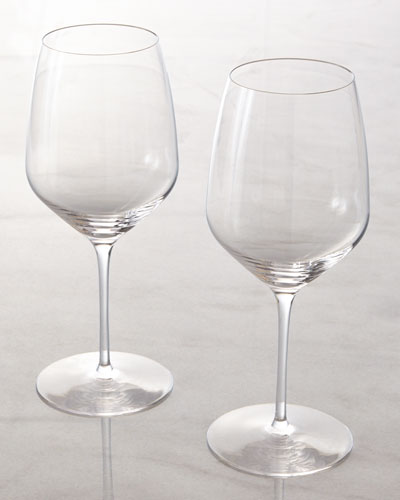 "Rogaska Two Red Wine ""Y"" Glasses"