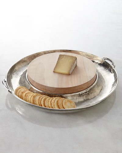 ValPeltro Round Cheese Board