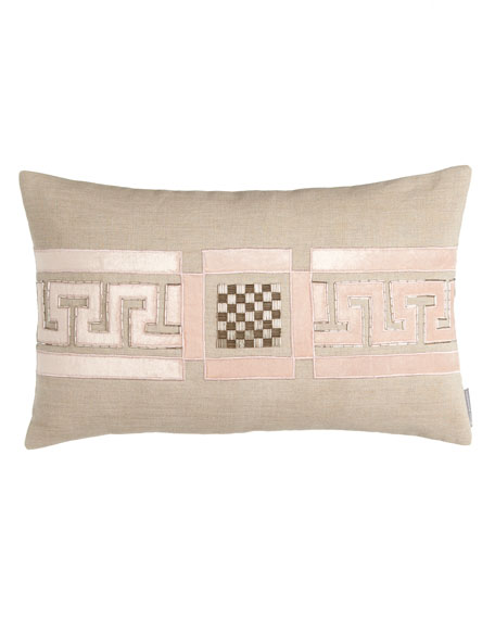 "Mackie 14"" x 22"" Greek Key Pillow"