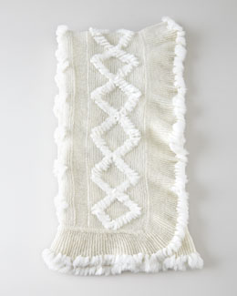 Adrienne Landau Knit Rabbit Throw