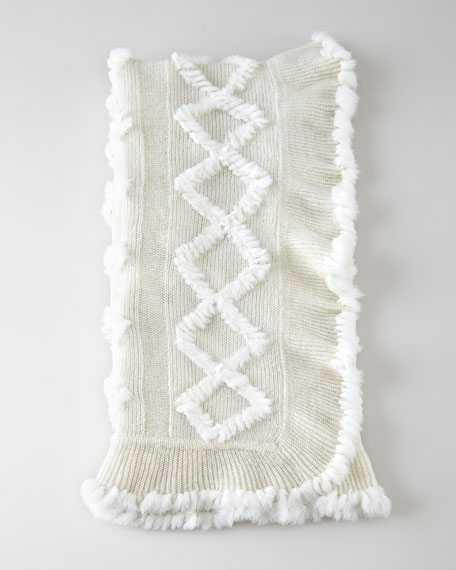 Knit Rabbit Throw