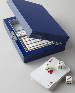 Ercolano Blue Lacquer Cards & Dice