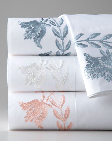 King Embroidered Sheet Set