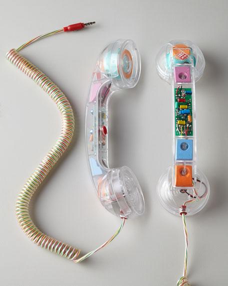 Retro Handset Clear Pop Phone