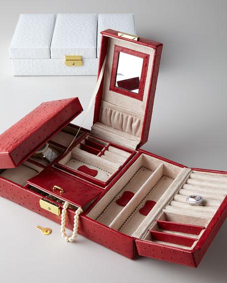 Meryl Ostrich Jewelry Box