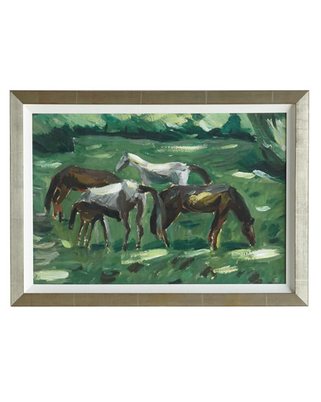 """Grazing Ponies"" Giclee on Paper Wall Art"