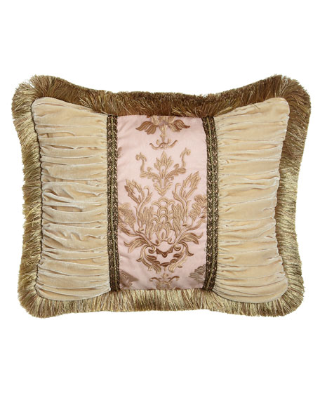 Sweet Dreams Alessandra Pillow with Ruched Velvet Sides