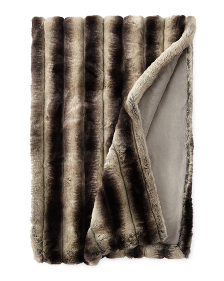 "Queen Faux-Chinchilla Throw, 54"" x 88"""