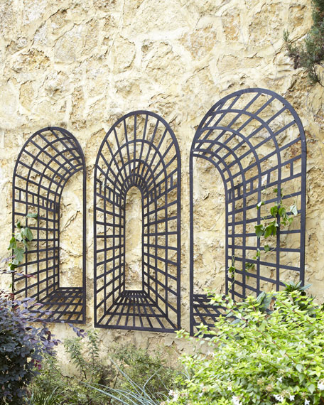 three piece garden arch wall decor. Black Bedroom Furniture Sets. Home Design Ideas