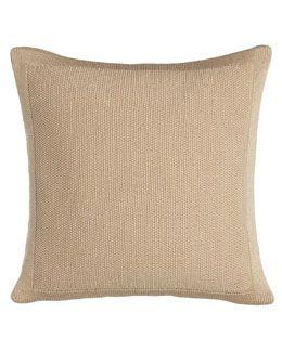 "Ralph Lauren Gold Pillow, 18""Sq."