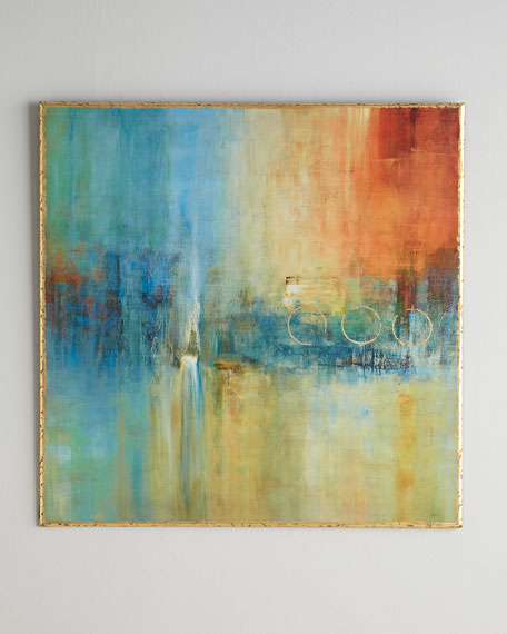 John-Richard Collection Blue Cascade Abstract Giclee on Canvas