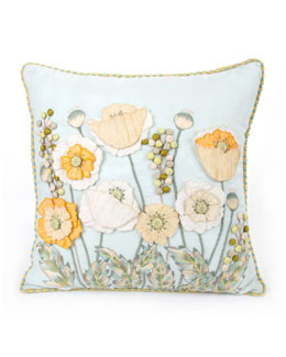 MacKenzie-Childs Parchment Poppy Pillow