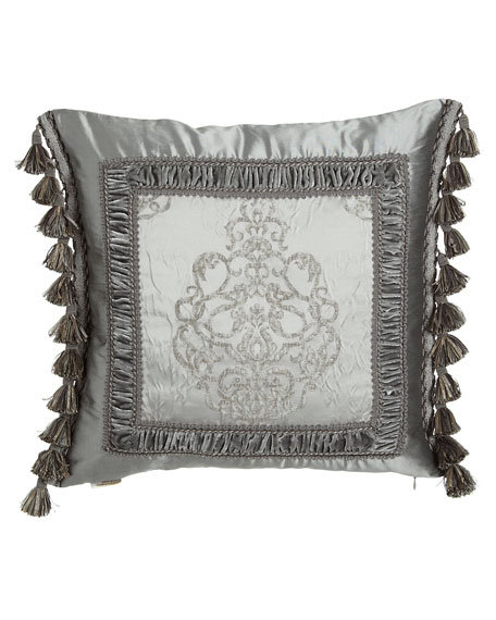 Dian Austin Couture Home Venetian Glass Silk-Framed Pillow with Side ...