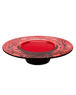 Lalique Baies Red Bowl