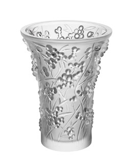 Lalique Baies Clear Vase