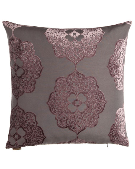D.V. Kap Home Purple Floral & Striped Pillow