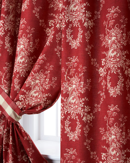 Pacific Coast Home Furnishings Two French Country Curtains,