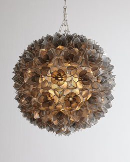 Capiz Flower Burst Pendant Light