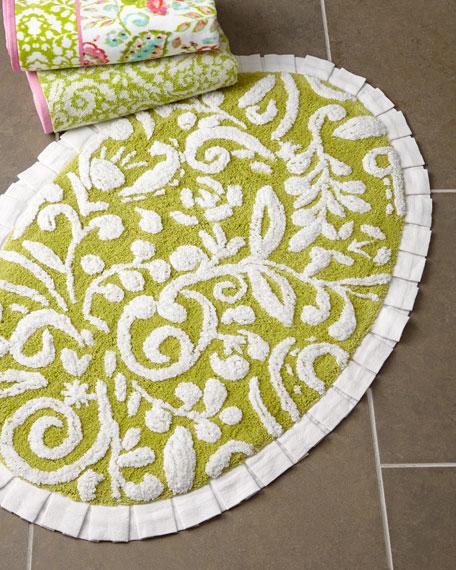 Dena Floral Jacquard Bath Rug
