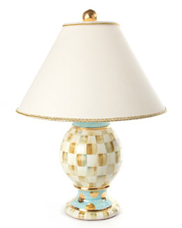 MacKenzie-Childs Parchment Check Medium Globe Lamp