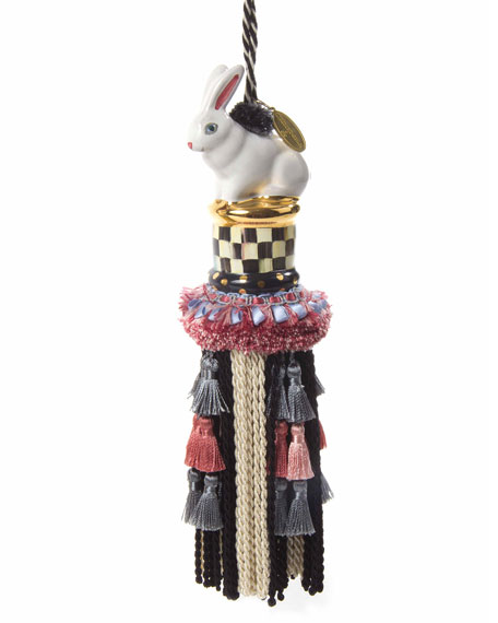 MacKenzie-Childs Courtly Check Rabbit Tassel