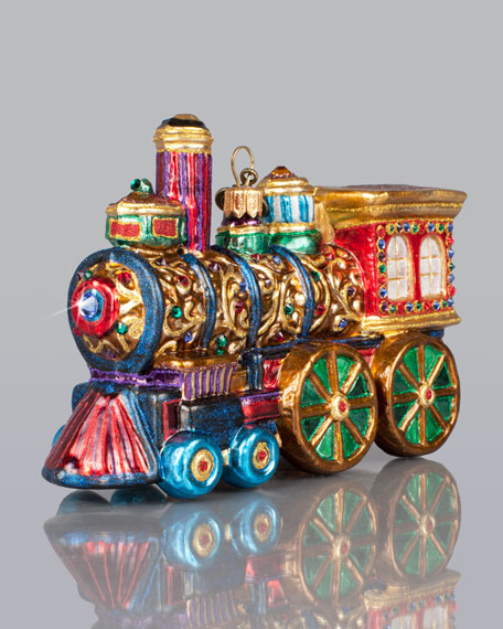jay strongwater train christmas ornament