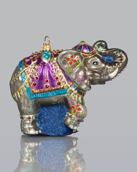 Parading Elephant Christmas Ornament